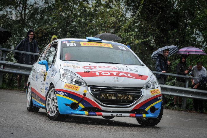 ALESSANDRO ZORRA VINCE  IL PEUGEOT COMPETITION 208 RALLY CUP PRO